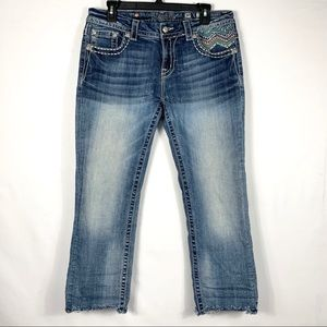 Miss Me Jeans Mid Rise Easy Cropped size 30